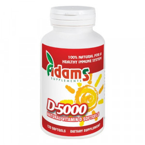 Vitamina D-5000 naturala - 120 cps