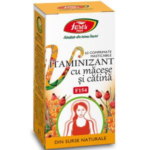 Vitaminizant cu macese si catina, F154 - 63 cpr Fares