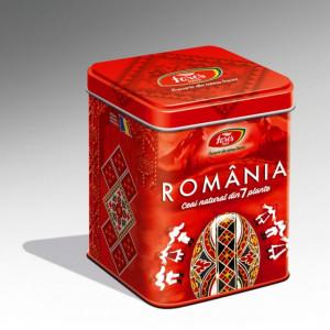 Ceai Suvenir Romania 7 Plante Rosu - 75 gr Fares