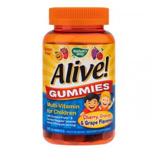 Alive Gummies Multivitamine pentru copii - 90 jeleuri