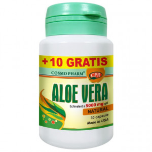 Aloe Vera - 30 cps + 10 cps GRATIS