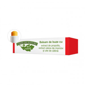 Balsam de buze cu extract de propolis, extract uleios de morcov si ulei de catina 4.8 g