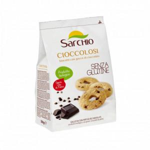 """Biscuiti BIO fara gluten """"Cioccolosi"""" cu ciocolata, Sarchio - 200g"""
