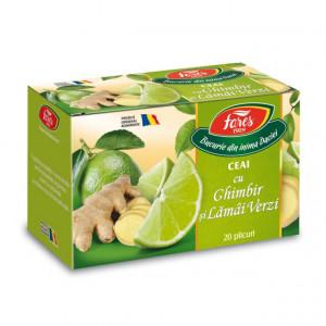 Ceai cu ghimbir si lamai verzi - 20 dz Fares