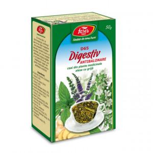Ceai Digestiv Antibalonare D65 - 50 g Fares