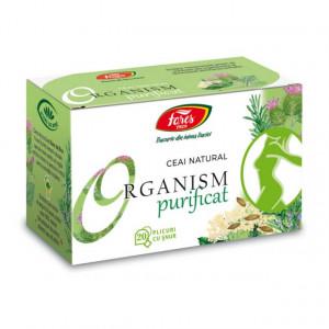 Ceai Organism Purificat - 20 pliculete cu snur Fares