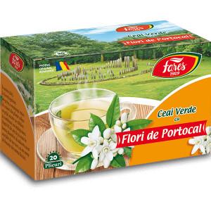 Ceai verde cu flori de portocal - 20 plicuri