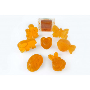 CocoSapun transparent figurine cu argan, susan si note citrice - 50 g