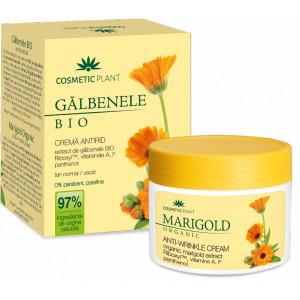 Crema antirid cu extract de galbenele BIO, vitamina A, F si panthenol - 50 ml