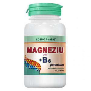 Magneziu 375mg + B6 - 30 cpr