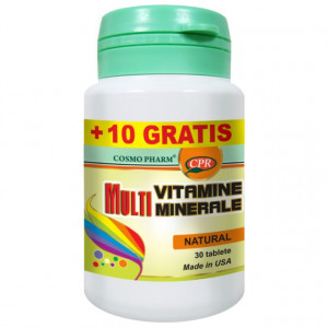 Multivitamine + multiminerale -  30 cpr + 10 cpr GRATIS