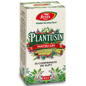 Plantusin pentru gat, R13 - 30 cpr Fares