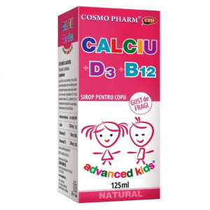 Sirop Calciu + D3 + B12 - 125 ml