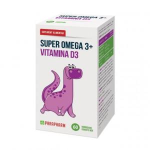 Super Omega 3+Vitamina D3 - 60 bomboane gumate
