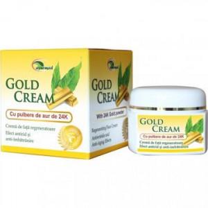 Crema de fata regeneratoare cu pulbere de aur - Gold Cream - 50 ml