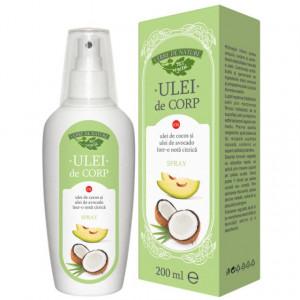 Ulei de corp cu ulei de cocos si ulei de avocado (nota citrica) 200 ml
