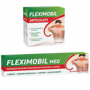 Fleximobil Articulatii 60 cps + Gel emulsionat 100 gr gratis