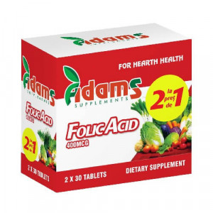 Acid Folic 400 mcg - 30 cps 1+1 Gratis