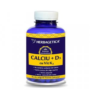Calciu + D3 cu Vit. K2 - 120 cps