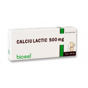 Calciu Lactic 500 mg - 20 cpr - Bioeel