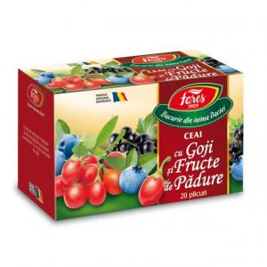 Ceai cu goji si fructe de padure - 20 dz Fares
