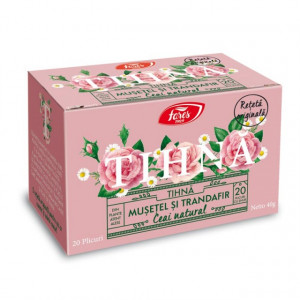 Ceai Tihna Musetel si Trandafir - 20 pliculete cu snur Fares