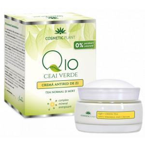 Crema antirid zi Q10 + ceai verde si complex mineral - 50 ml