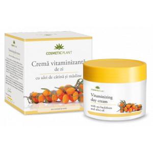 Crema vitaminizanta de zi cu ulei de catina si masline - 50 ml