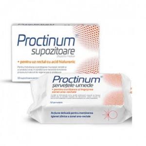 Proctinum supozitoare -10 buc + Servetele umede - 72 buc
