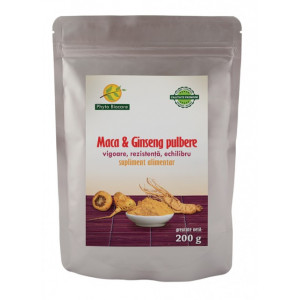 Pulbere Maca si ginseng - 200 g