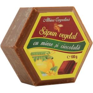 Sapun hexagonal cu miere si ciocolata - 100g