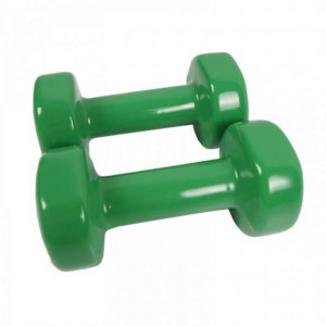 Set gantere epoxy 2 x 4 kg Dayu Fitness verde