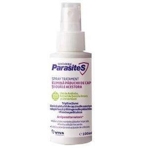 Spray tratament elimina paduchii de cap si ouale acestora ParasiteS - 100ml
