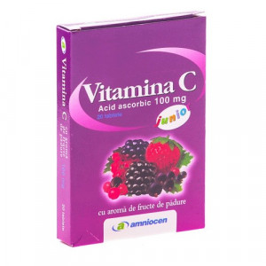 Vitamina C fructe de padure 100mg - 20 cps