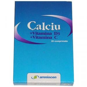 Calciu + Vitamina D3 + Vitamina C - 20 cps