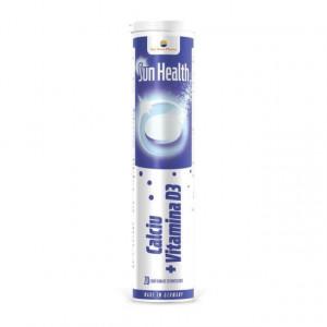 Sun Health Calciu+Vitamina D3 - 20 cpr efervescente