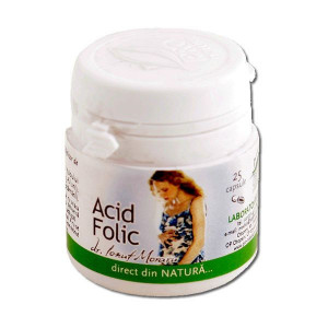 Acid folic - 25 cps