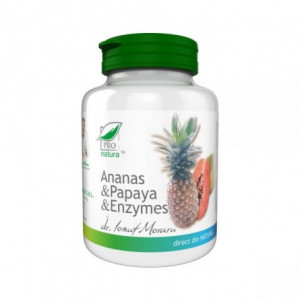 Ananas si Papaya Enzymes - 100 cpr