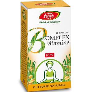 B Complex Vitamine Naturale - 60 cps Fares