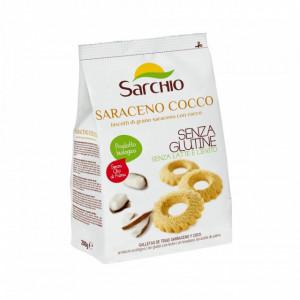 Biscuiti BIO fara gluten, cu hrisca si cocos, Sarchio - 200 g