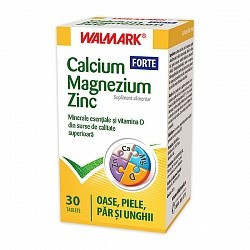 Calcium Magnezium Zinc Forte - 30 cpr