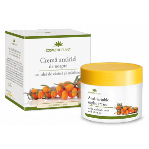 Crema antirid de noapte cu ulei de catina si masline - 50 ml