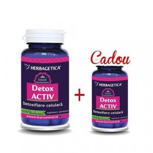 Detox Activ 60 cps + 10 cps Gratis