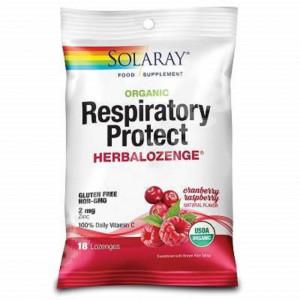 Dropsuri pentru gat Respiratory Protect Cranberry Raspberry - 18 buc