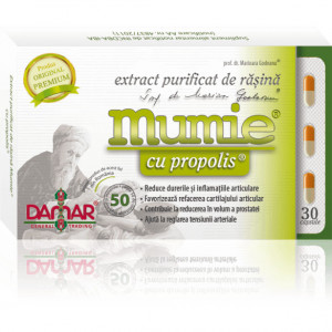 Extract purificat de rasina Mumie cu propolis - 30 cps