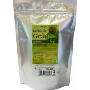 Iarba de grau pulbere - 200 g Herbavit