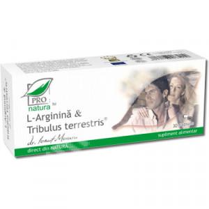 L-arginina si Tribulus Terrestris - 30 cps