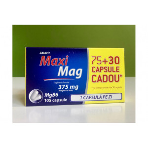 Maximag 375mg - 75+30 cps gratis