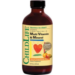 Multi Vitamin & Mineral (gust de portocale/mango) - 237ml - ChildLife Essentials