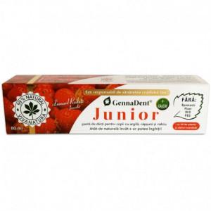 Pasta de dinti cu capsuni GennaDent Junior - 80 ml